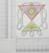 Celestial Nautical Ropes with Sun Pastel