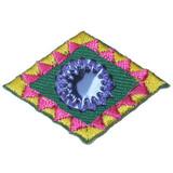 Decorative Mirrored Diamond Blue