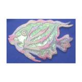 Pastel Sparkle Fish Marine Iron On Patch Applique
