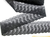 "Embroidered Sheer 2 1/2"" Black 14 Yard Bolt"