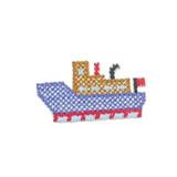 Ferry Boat Cross Stitch Style