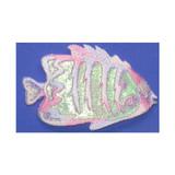 Pastel Sparkle Fish Tropical Iron On Patch Applique