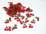 """Sew On Embroidered Cherry Appliques 1"""" high (25mm)  72 Pieces"""