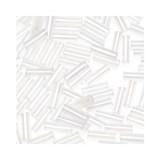 Glass Bugle Beads 4.5mm long Crystal Iris 20 Grams
