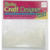 Beads 2.5mm Faux Pearl White 2000 piece pack
