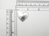 Silver Foil Mirror Heart Iron On Patch Applique