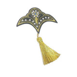 Decorative Studded Crest with Tassel