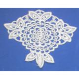Iron On Venise Lace Applique - Floral Medallion