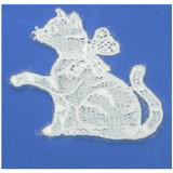 Iron On Venise Lace Applique - Cat  Sew On