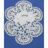 Iron On Venise Lace Applique - Floral Medallion.