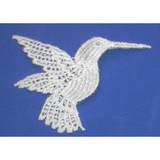 Iron On Venise Lace Applique - Hummingbird