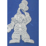 Iron On Venise Lace Applique - Clown with Balloon