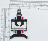 """Robot Iron On Patch  Fully Embroidered with Rayon Threads  Measures 3 1/8"""" high x 1 3/8"""" wide approximately"""