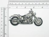 Motorcycle Patch Embroidered Iron On Applique facing right