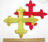 "Equal Latin Cross 12"" x 12"" (304mm) approx"