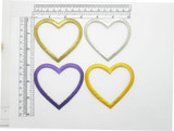 """Heart 2 7/8"""" Border Patch Embroidered Iron On Applique"""