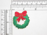 Christmas Garland Wreath Iron On Patch Applique