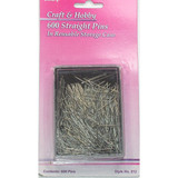"""Straight Pins 1"""" 600 piece recloseable Box"""