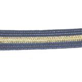 "Braid 3/8"" Flat Navy & Gold 10 yards"