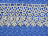 """Venise Lace 4"""" (102mm) Metallic Silver Priced Per yard"""