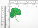 """Shamrock Patch Embroidered Iron On Applique 1 5/8"""" high x 1 3/8"""""""