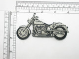 Motorcycle Patch Embroidered Iron On Applique facing left