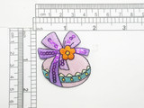 Easter Egg with Bow Patch Iron on Embroidered Applique