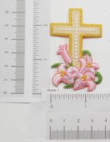 Cross with Lillies