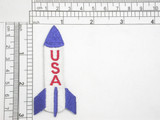 """USA Rocket Space Iron On Embroidered Applique  Fully Embroidered  Measures 3"""" high x 1 3/8"""" wide"""