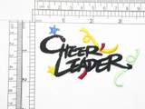"""Cheer Leader Iron On Patch Applique  Fully Embroidered  Measures 3 1/2"""" across x 2 1/4"""" high approximately"""