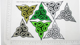 "Celtic Tri Knot Patch Embroidered Iron On applique 3 1/2"" x 3"""