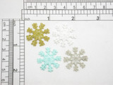 """Snowflake 1"""" Iron On Patch Applique - 1"""" (25mm)"""
