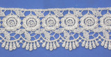 """Venise Lace 2 1/ 4"""" Metallic Silver 3 Yards & Up"""