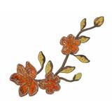 Brocade Flower Spray Rust