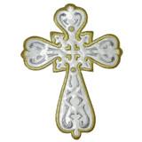 """Sacred Heart Cross 5 3/4"""" high White"""