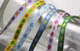 """Jacquard Ribbon 3/8"""" Argyle Pattern *Colors*"""