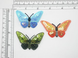 """Sequin Butterfly Patch 2 1/2"""" Iron On Embroidered Applique  2 1/2"""" across x 1 1/2"""" high Embroidery and Super Sparkly Sequins make up this beautiful range of Iron On Butterflies"""