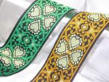 "Jacquard Ribbon 2"" Four Leaf Clover *Colors*"