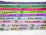 """Dog Agility Jacquard Ribbon 5/8"""" 15.8mm  Colors"""