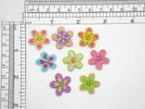 """Daisy Multicolor Flower  3/4"""" (19mm)"""