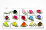 Polyester Satin Ribbon Barrel Roses *Colors* 20 Piece Pack.