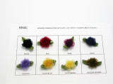 "Organza Cabbage Roses 1 1/2"" (38mm) Various Colors 20 Piece Pack"