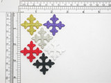 "Equal Latin Cross Iron On Patch Applique 1 3/8"" (35mm) *Colors*."