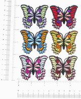 "Butterfly Iron On Patch Appliques Azzi 2 1/8"" *Colors*"