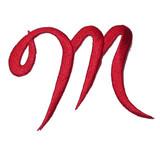 Script Red Letter M