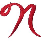 Script Red Letter N