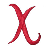 Script Red Letter X