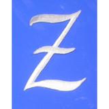 Script Letter White Z