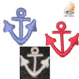Anchor Mini Embroidered Iron On applique