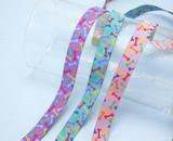 "Jacquard Ribbon 5/8"" (16mm) Multi Dog Bones"